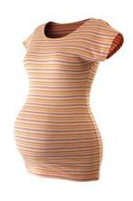 Těhotenské triko proužkované,český výrobek, m
