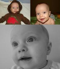 Tomasek od Mala.Lenka ve 3, 6 a 9 mesicich